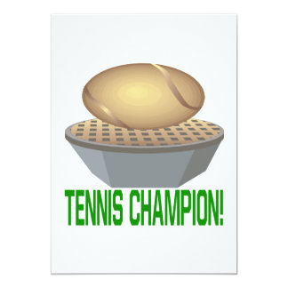 Tennis Champion Card