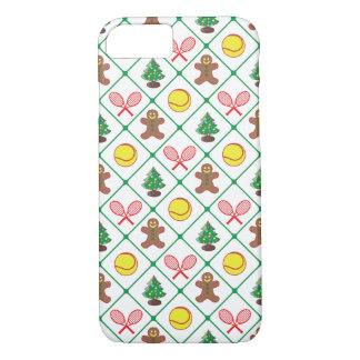 Tennis Christmas pattern iPhone 8/7 Case