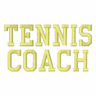 TENNIS COACH EMBROIDERED POLO SHIRT