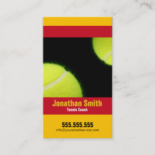 Tennis lessons business cards zazzle nz tennis coach tennis lessons business card colourmoves