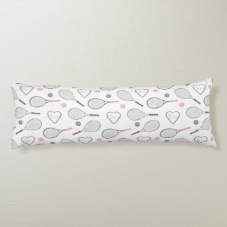 Tennis Love Pattern Body Cushion