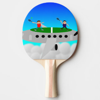 Tennis on a plane ping pong bats