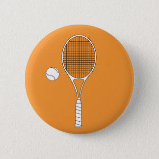 Tennis Racket and Ball Button Badge