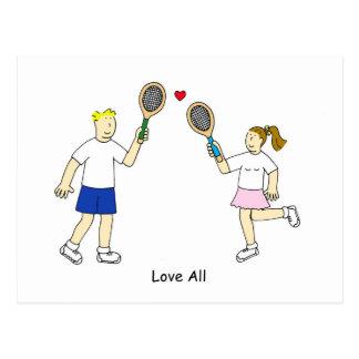Tennis Romance, Love All Postcard