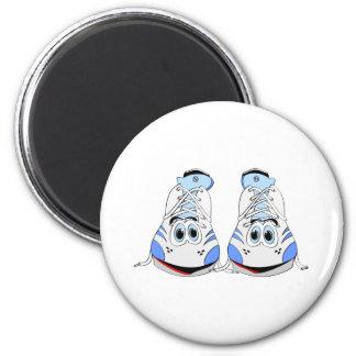 Tennis Shoes Cartoon 6 Cm Round Magnet