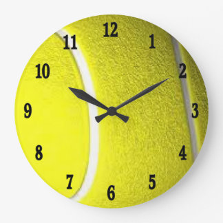 Tennis Sport Wall Clock w Black Numbers