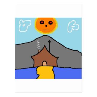 tent sun postcards