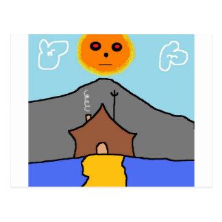 tent sun postcard
