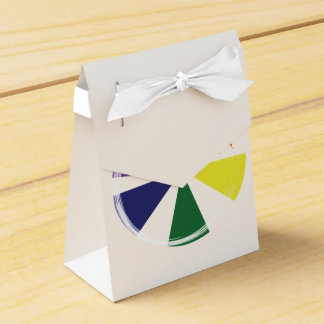 Tent with Ribbon Favor Box GAY COLOR WHEEL Favour Box
