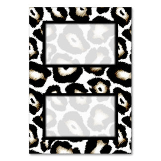 Tented Snow Leopard Print Blank Place Card