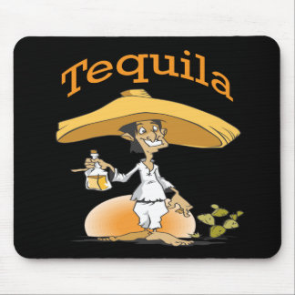 Tequila Cactus Mexican Sombrero Mouse Pad