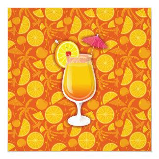 Tequila sunrise 13 cm x 13 cm square invitation card
