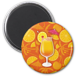 Tequila sunrise 6 cm round magnet