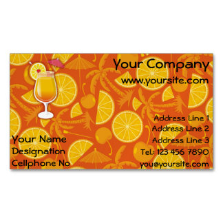 Tequila sunrise A glass of tequila sunrise cocktai Magnetic Business Cards