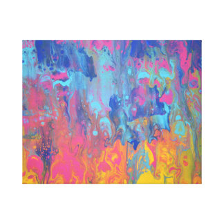 Tequila Sunrise Abstract Art Print