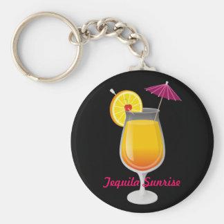 Tequila Sunrise Basic Round Button Key Ring