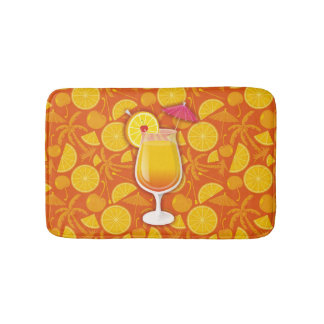 Tequila sunrise bath mats