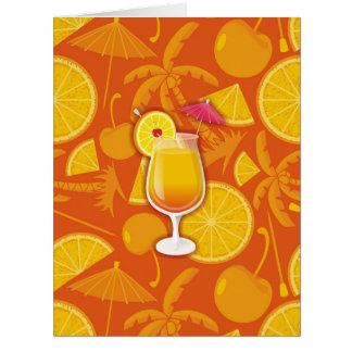 Tequila sunrise big greeting card