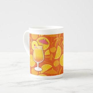 Tequila sunrise bone china mug
