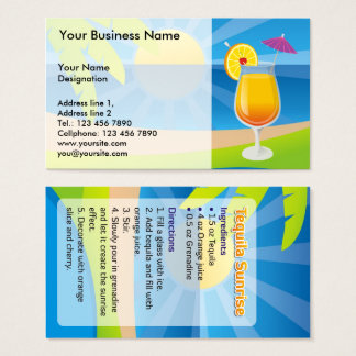Tequila Sunrise Business Card