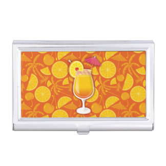 Tequila sunrise business card holders