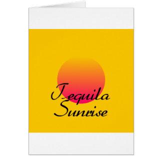 Tequila Sunrise Greeting Card