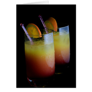 Tequila Sunrise Greeting Cards