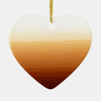Tequila Sunrise Ceramic Heart Decoration