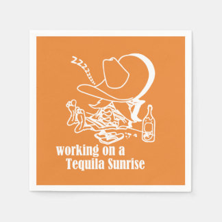 Tequila Sunrise Cinco de Mayo Party Paper Napkins