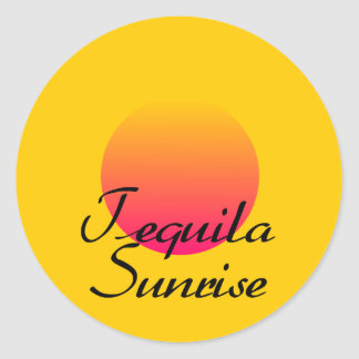 Tequila Sunrise Classic Round Sticker