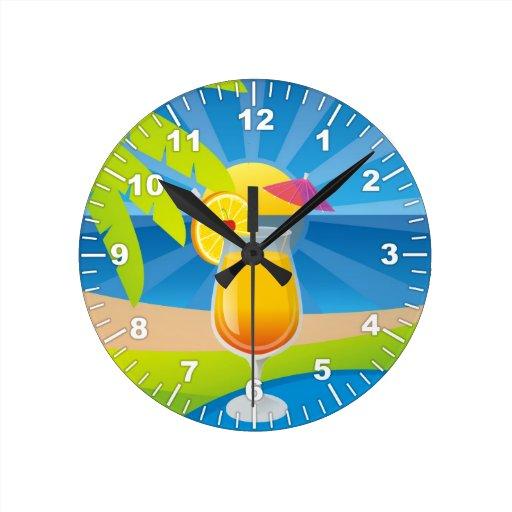 Tequila sunrise clocks