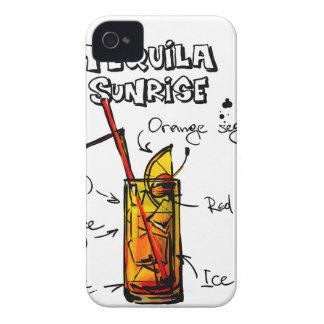 Tequila Sunrise Cocktail Recipe iPhone 4 Case-Mate Case