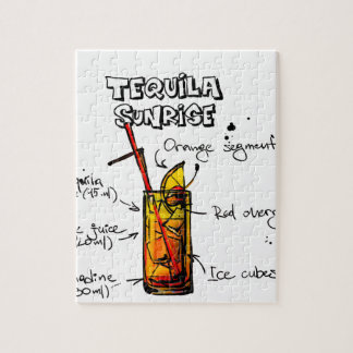Tequila Sunrise Cocktail Recipe Jigsaw Puzzle
