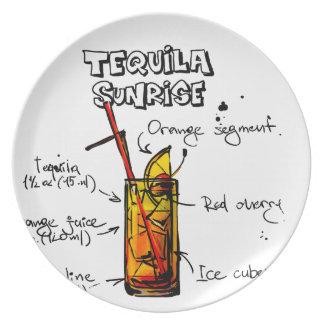 Tequila Sunrise Cocktail Recipe Plates
