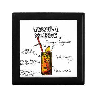 Tequila Sunrise Cocktail Recipe Small Square Gift Box