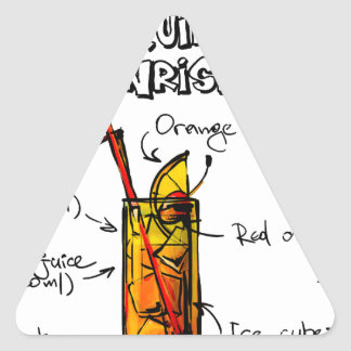 Tequila Sunrise Cocktail Recipe Triangle Sticker