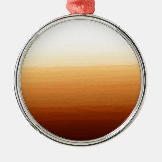 Tequila Sunrise Silver-Colored Round Decoration