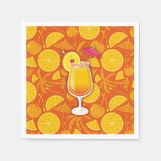 Tequila sunrise disposable serviette