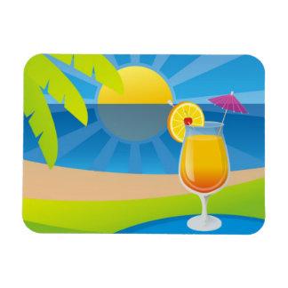 Tequila Sunrise Rectangular Photo Magnet