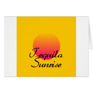 Tequila Sunrise Greeting Card