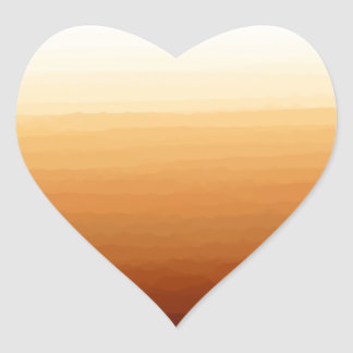 Tequila Sunrise Heart Sticker