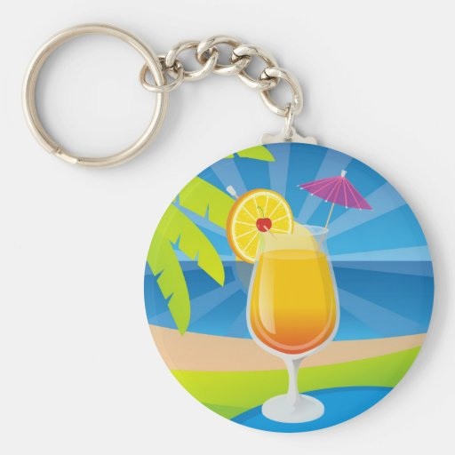 Tequila Sunrise Key Chains