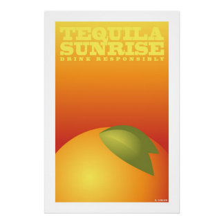 Tequila Sunrise (Large Archival Paper Poster)