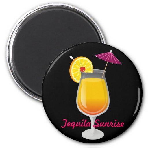 Tequila Sunrise Fridge Magnet