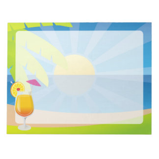 Tequila sunrise memo notepads