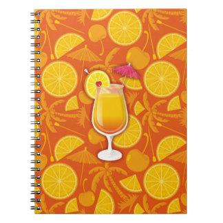 Tequila sunrise notebook