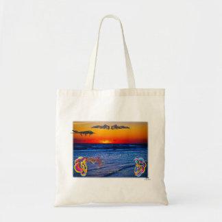 Tequila Sunrise Over Atlantic Big Beach Big Fun Budget Tote Bag