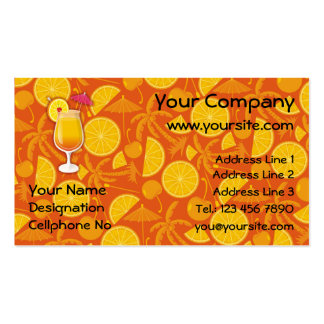 Tequila sunrise pack of standard business cards