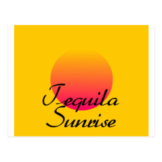 Tequila Sunrise Postcard