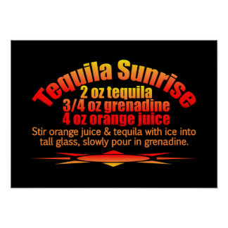 Tequila Sunrise poster